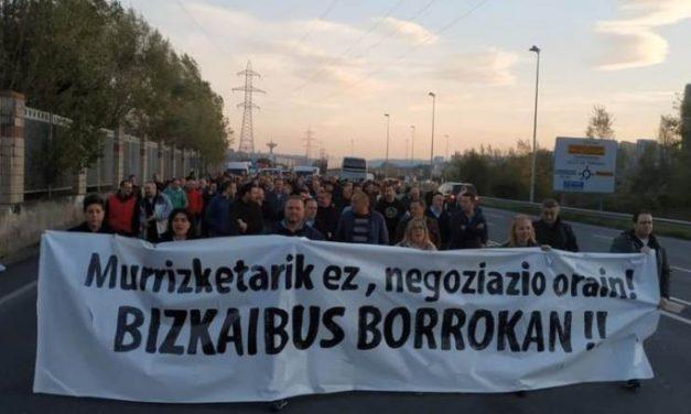 Nuevas jornadas de paros en Bizkaibus para diciembre, sin que la patronal intente ningún acuerdo en el convenio