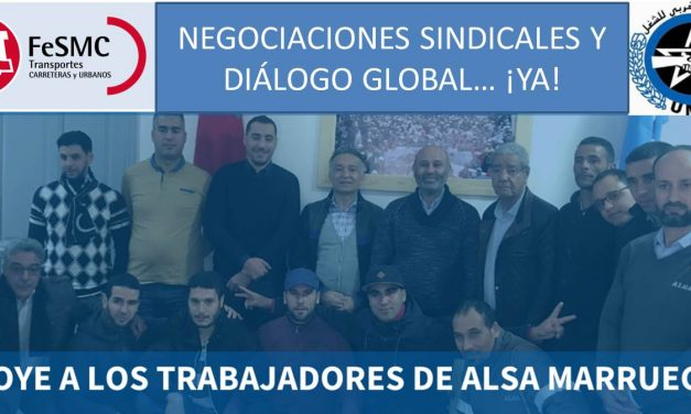 UGT se solidariza con los compañeros y compañeras de ALSA en Marruecos